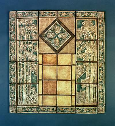 Fireplace tiles arts and crafts images for Arts and crafts tiles