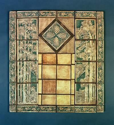 Tile restoration center american arts and crafts tiles for Arts and crafts floor tile