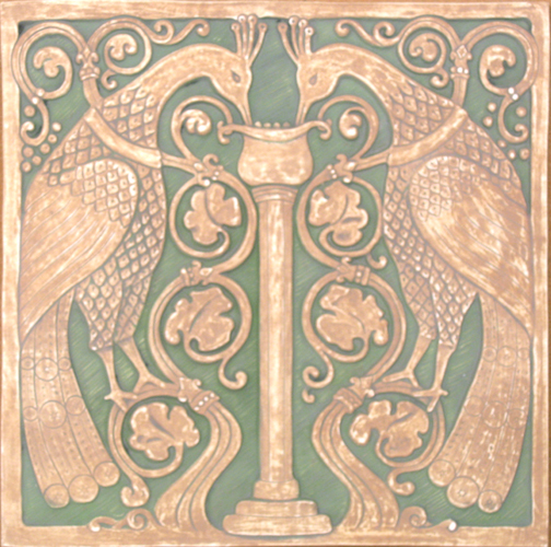 October spotlight on artists of the handmade tile for Arts crafts tiles