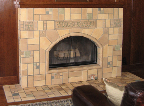 arched fireplace